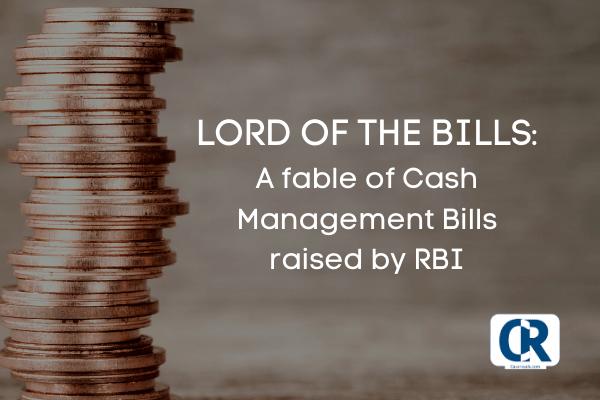 Cash management bills raised by RBI